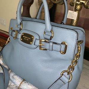Michel Kors blue Pebbled Leather bag